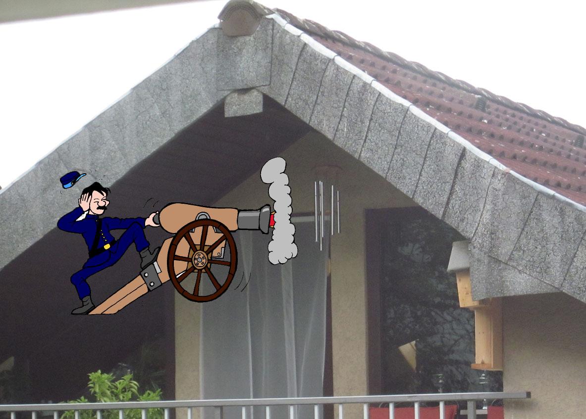 Windspiel unterm Dach